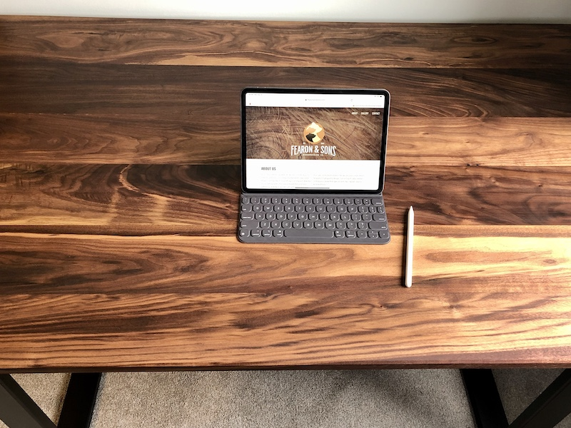 Walnut desk for Polina Fearon Art